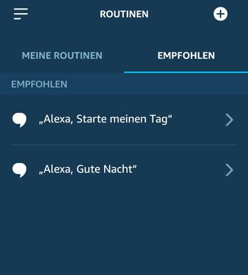 Routinen Alexa
